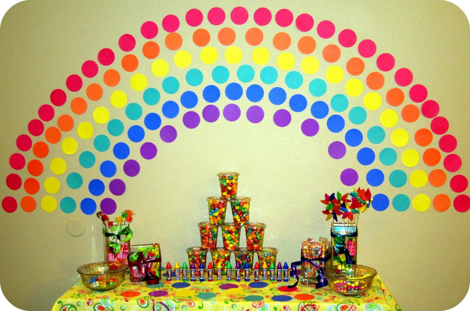 Rainbow Party and this blog shares all the details, food, games, and ...