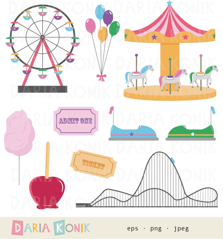 Funfair Clip Art Set Carnival Clip Art Rollercoaster Etsy Gutschein Basteln Kinder Gutschein Basteln Reise Riesenrad