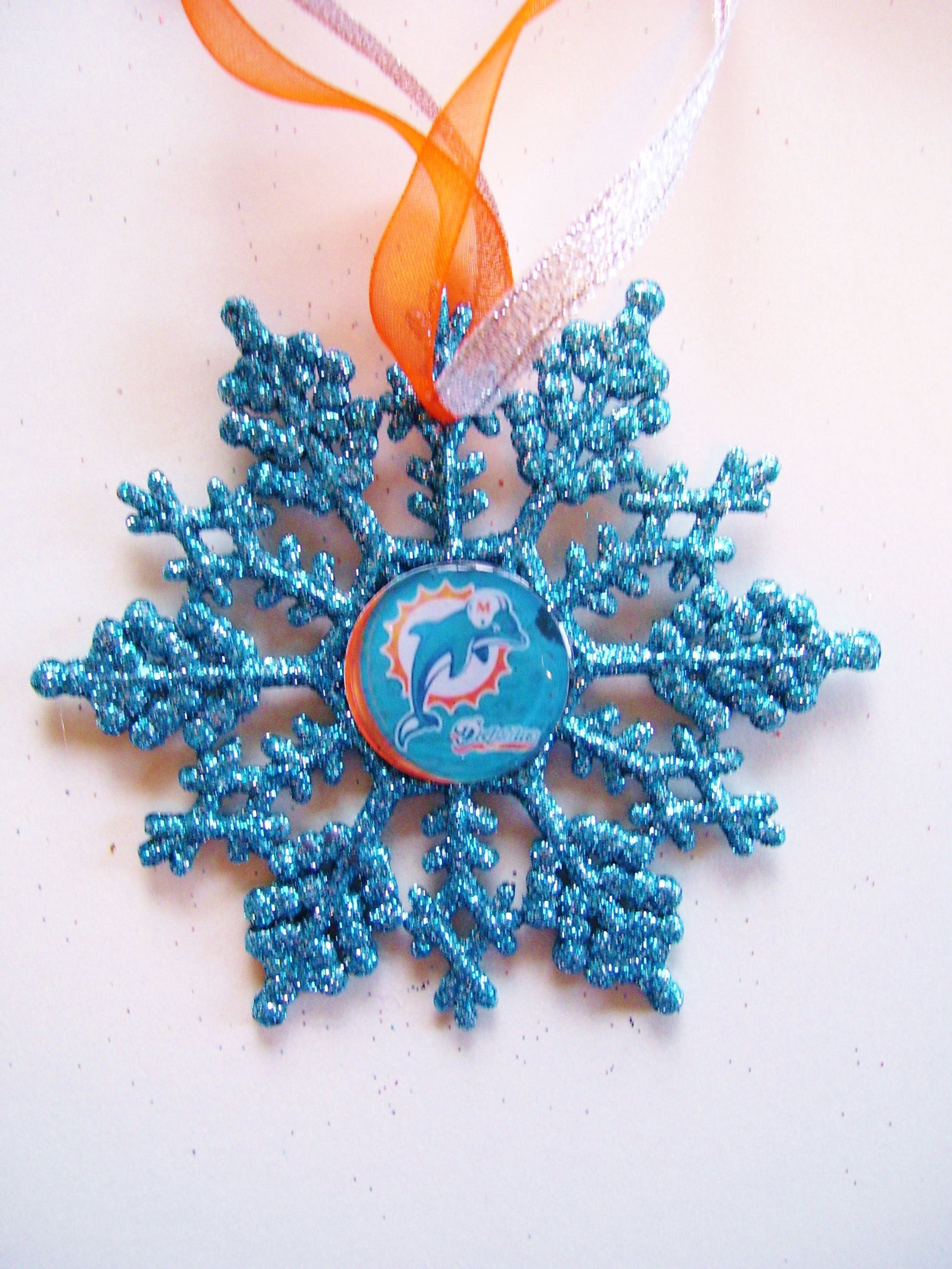 Miami Dolphins Football Handcrafted Snowflake By Zzsteamtime On Etsy