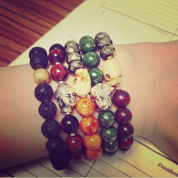 Beautiful skull and Buddha bracelets. Skull and Buddha bracelets. Sold in bundle or separate Accessories