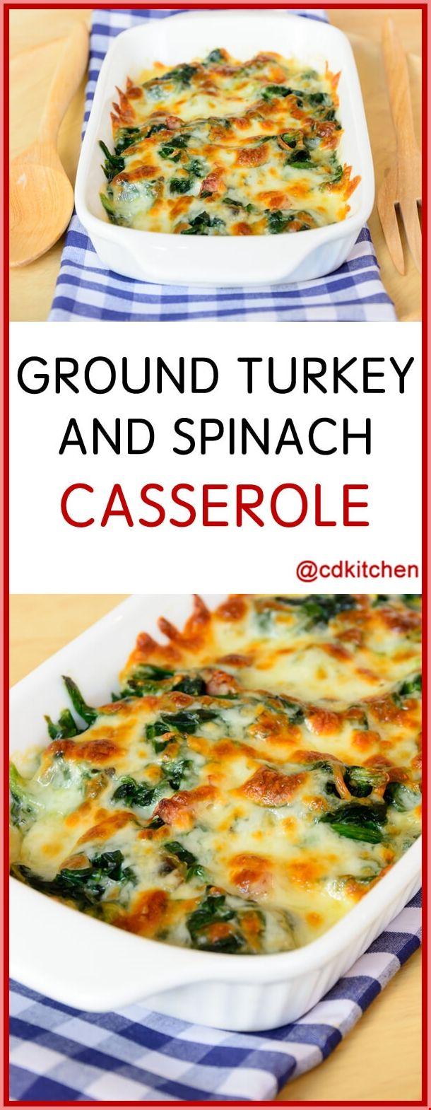 Photo of Ground Turkey And Spinach Casserole Recipe – #Ground #Turkey…
