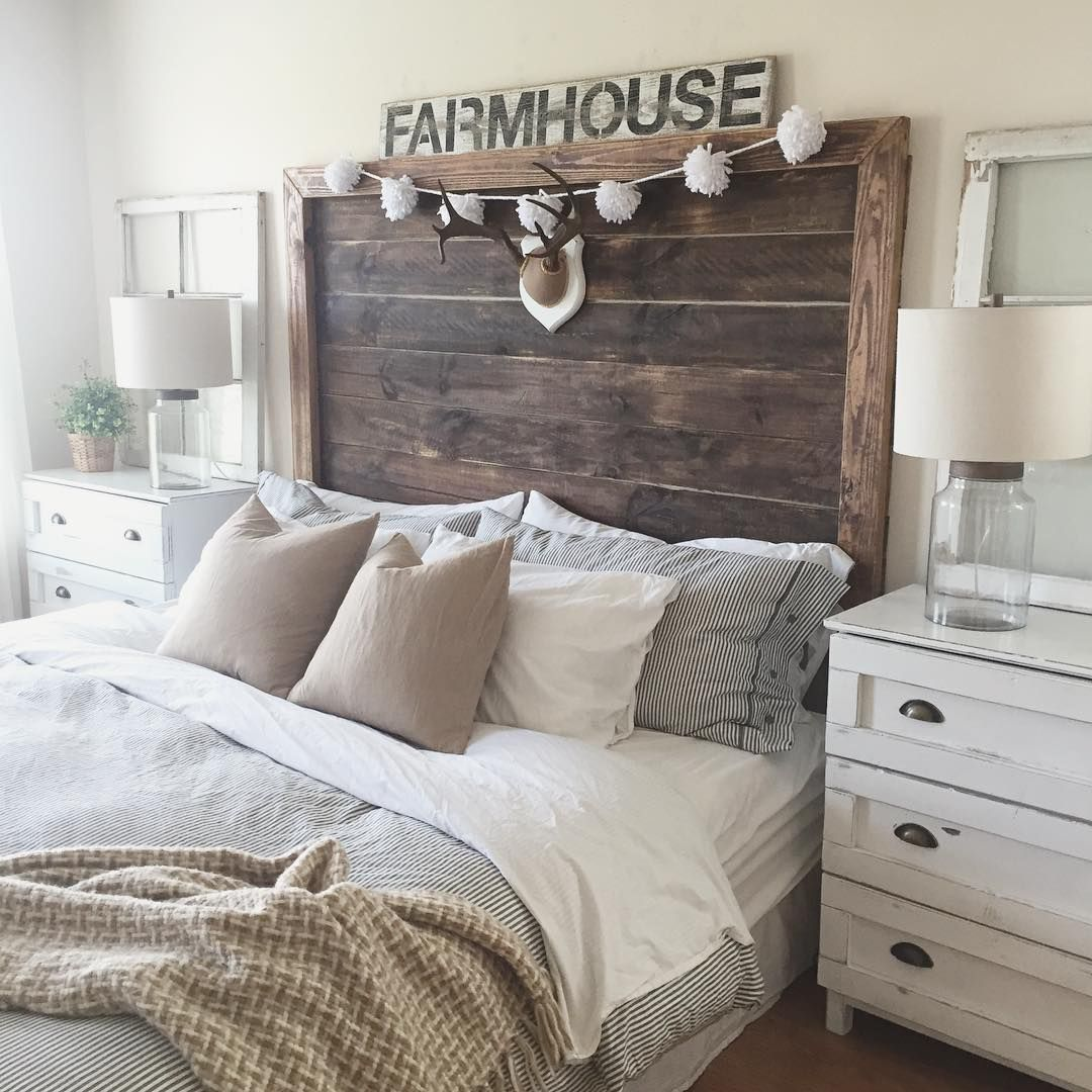 Rustic White And Grey Bedroom: @deeplydistressed Via Instagram