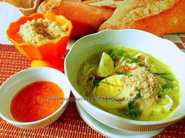 Resep Soto Ayam Lamongan Dengan Khas Taburan Koya Resep Masakan Resep Dan Masakan