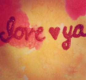 DIY Glitter Watercolor Valentine Card  VALENTINES  Pinterest