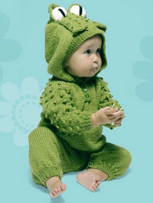 Knitting Project: Frog Suit with Hood | Baby knitting ...