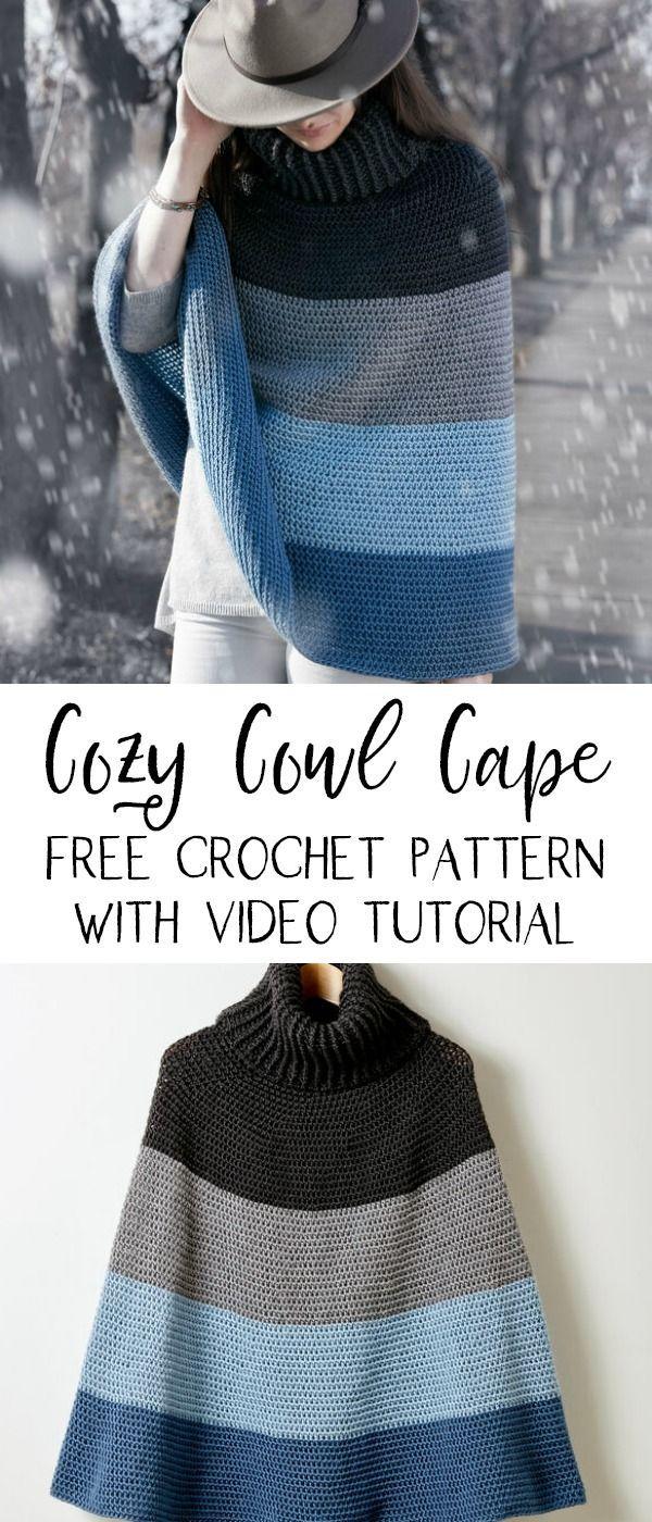 Photo of Caron Cozy Cowl Cape | Yarnspirations