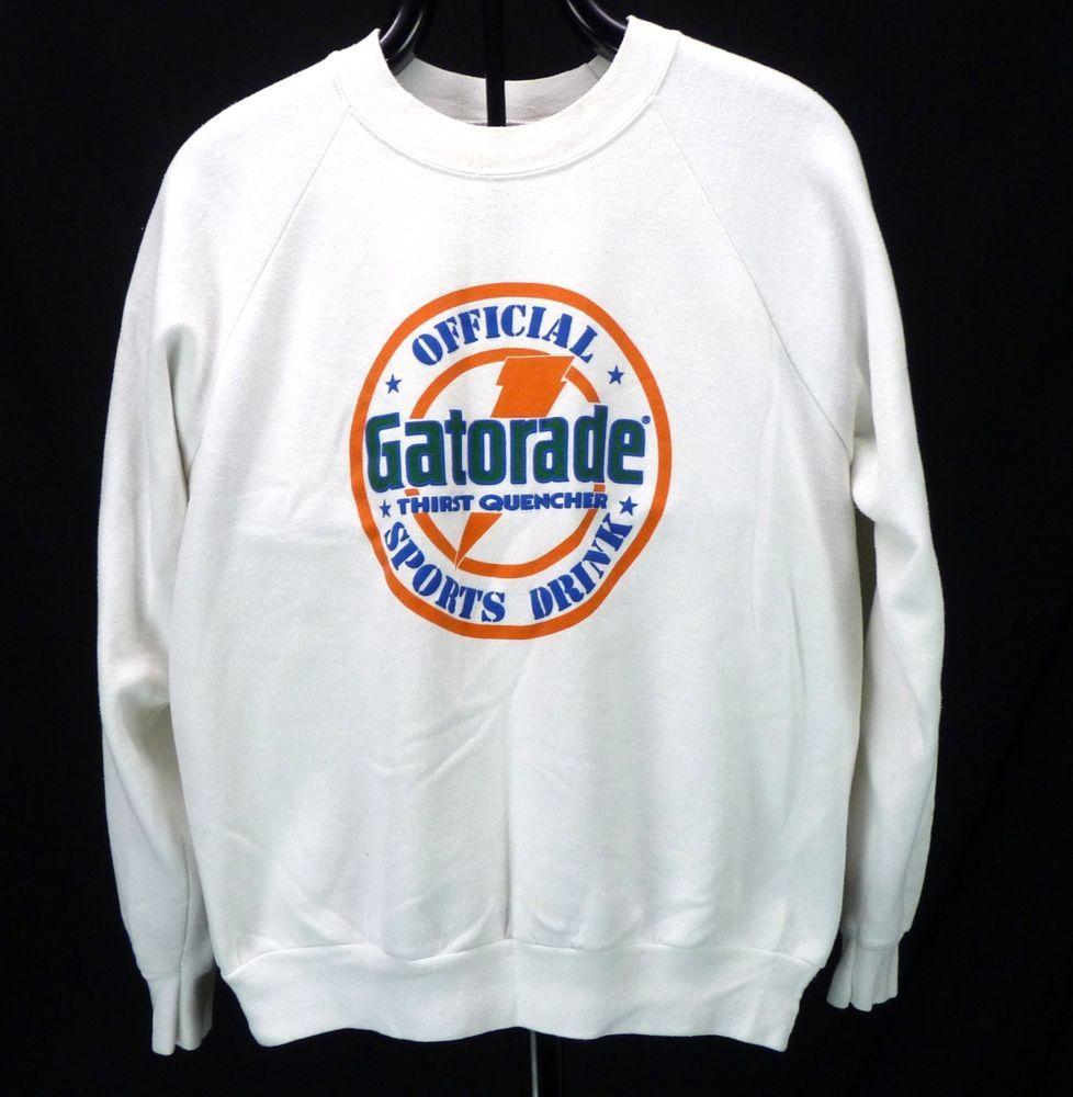 7e2959dd3dd59c Vintage GATORADE Official Sports Drink Puffy Logo Sweatshirt White Crew L  XL  Oneita