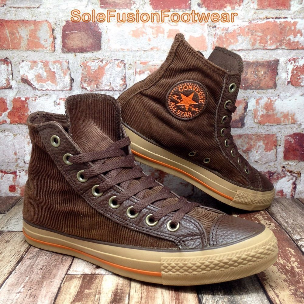 d20a06535efb Converse Mens All Star Corduroy High Trainers Brown sz 7 VTG Boot Womens US  9 40
