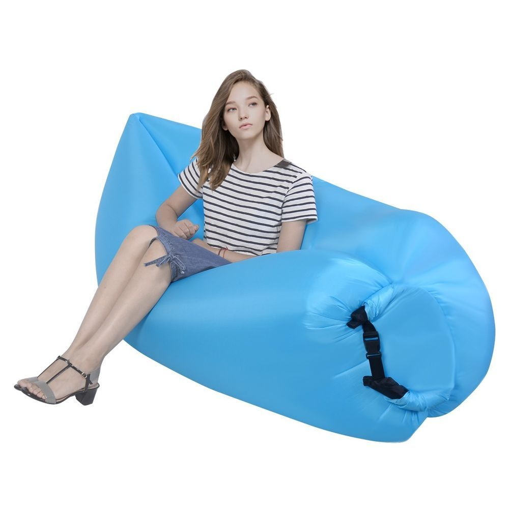 Outdoor Lazy Inflatable Couch Air Sleeping Sofa Lounger Bag Camping Bed Portable For Great Deals Visit Http Www Eb Lazy Lounger Inflatable Couch Camping Bed