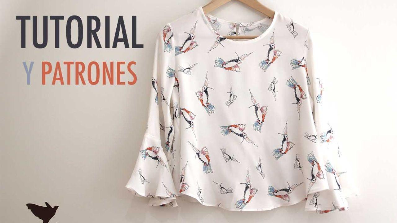 DIY Costura: Blusa de mujer (patrones gratis) - YouTube | Moda ...