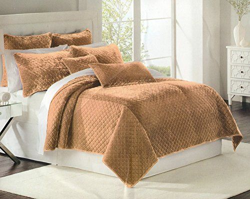 Nice Quilts U0026 Coverlets, Comfy Bed, Twin Quilt, Queen Quilt, Luxury Bedding,  Bedspread, Nicole Miller, Camel, Velvet