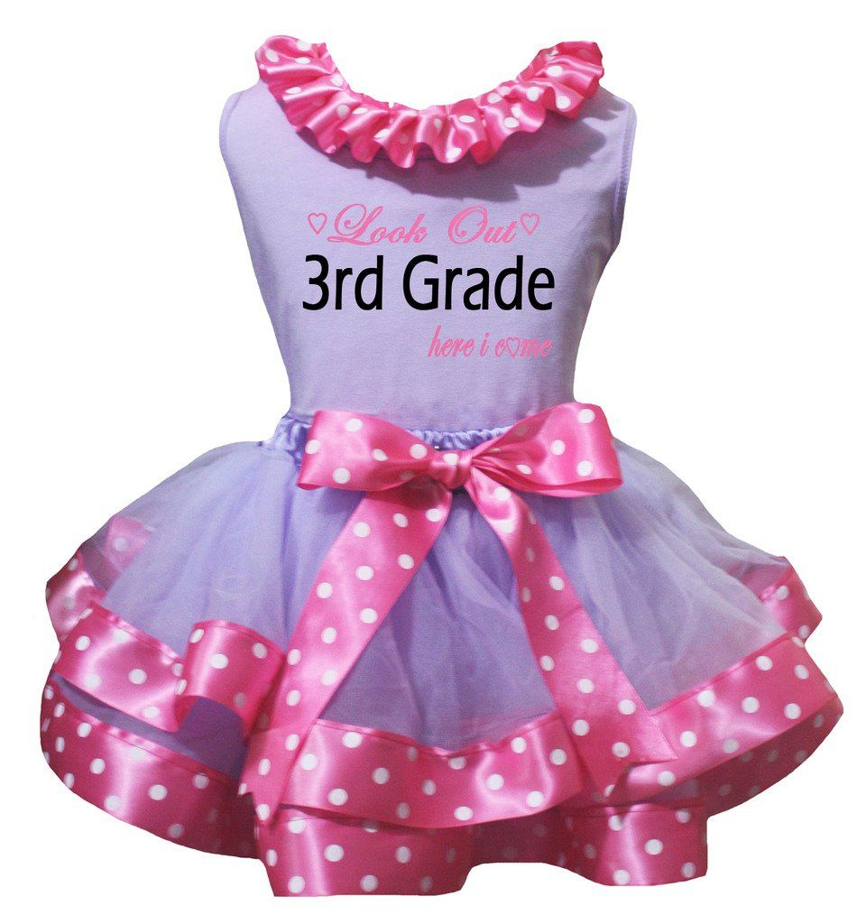 Petitebella Three Heart White Shirt Pink Sequins Skirt Set 1-8y