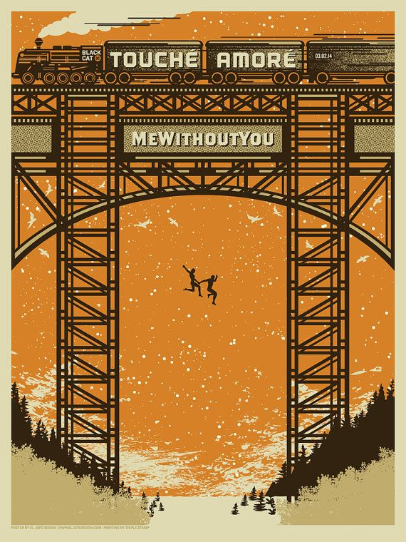 Touche Amore - mewithoutYou - Gig Poster - sérigraphie