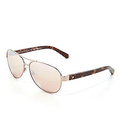 b4fefdf1faa kate spade new york Dalia 2 Aviator Sunglasses  Dillards ...