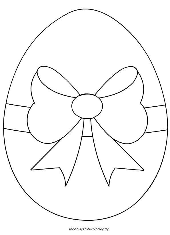 disegni da colorare uovo