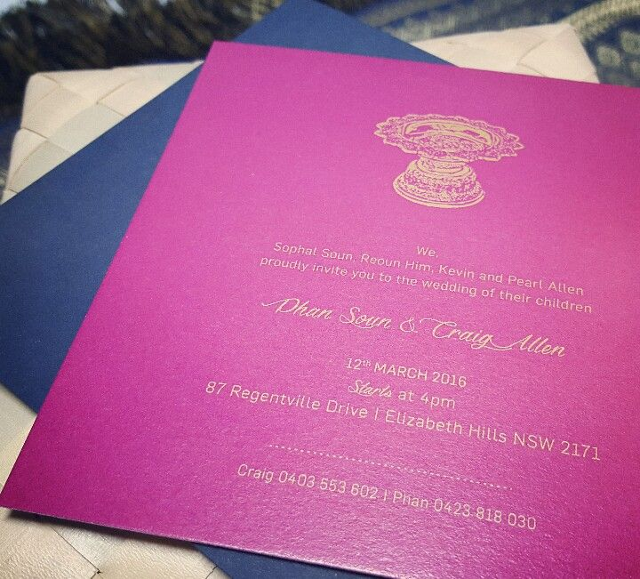 Modern Twist To A Cambodian Wedding Invite Designed By Invites By