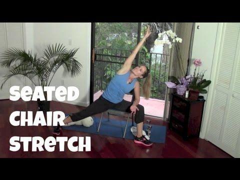 love yoga 10minute chair stretch  jessica smith tv
