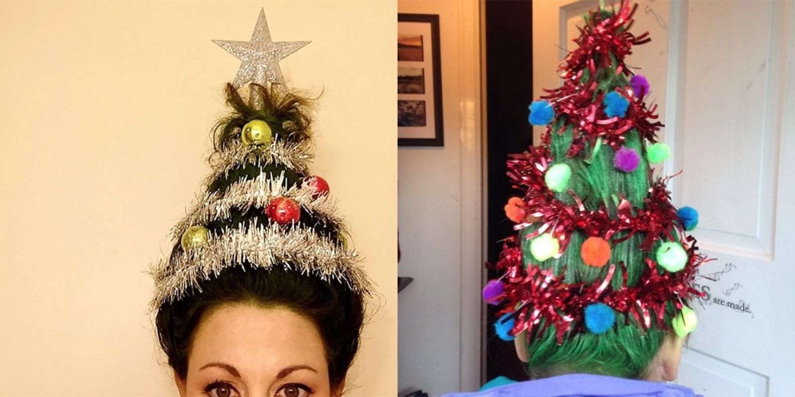 Christmas Tree Hair Is The Next Crazy Beauty Trend And It S Equally Bizarre And Festive Christmas Tree Hair Tree Costume Christmas Tree Costume