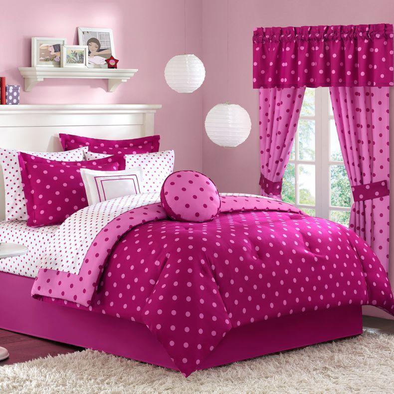 Jcpenney Dot2dot Raspberry Comforter, Raspberry Colored Bedding