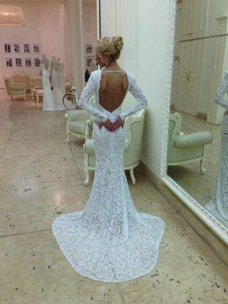 Beautiful backless Berta bride