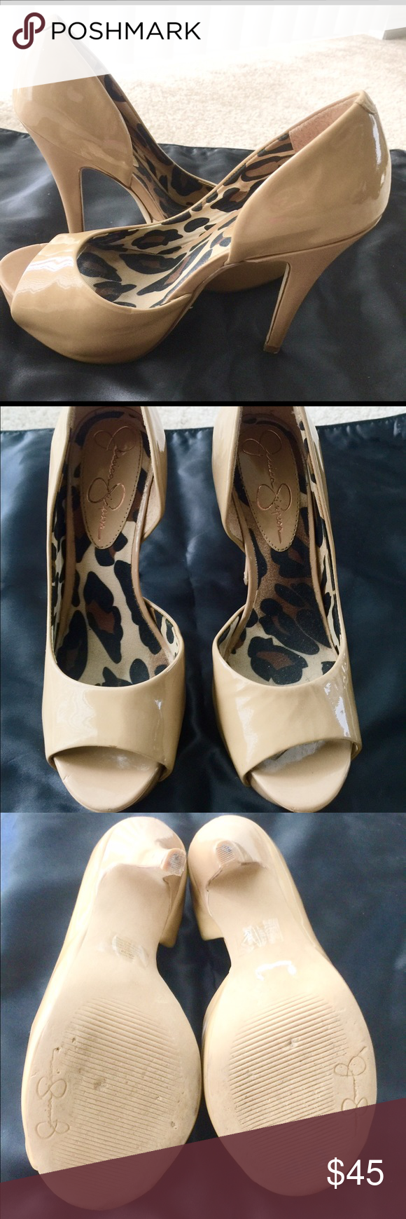 "5"" heels very cute. In great shape. Jessica Simpson 5"" heels excellent condition. Jessica Simpson Shoes Heels"
