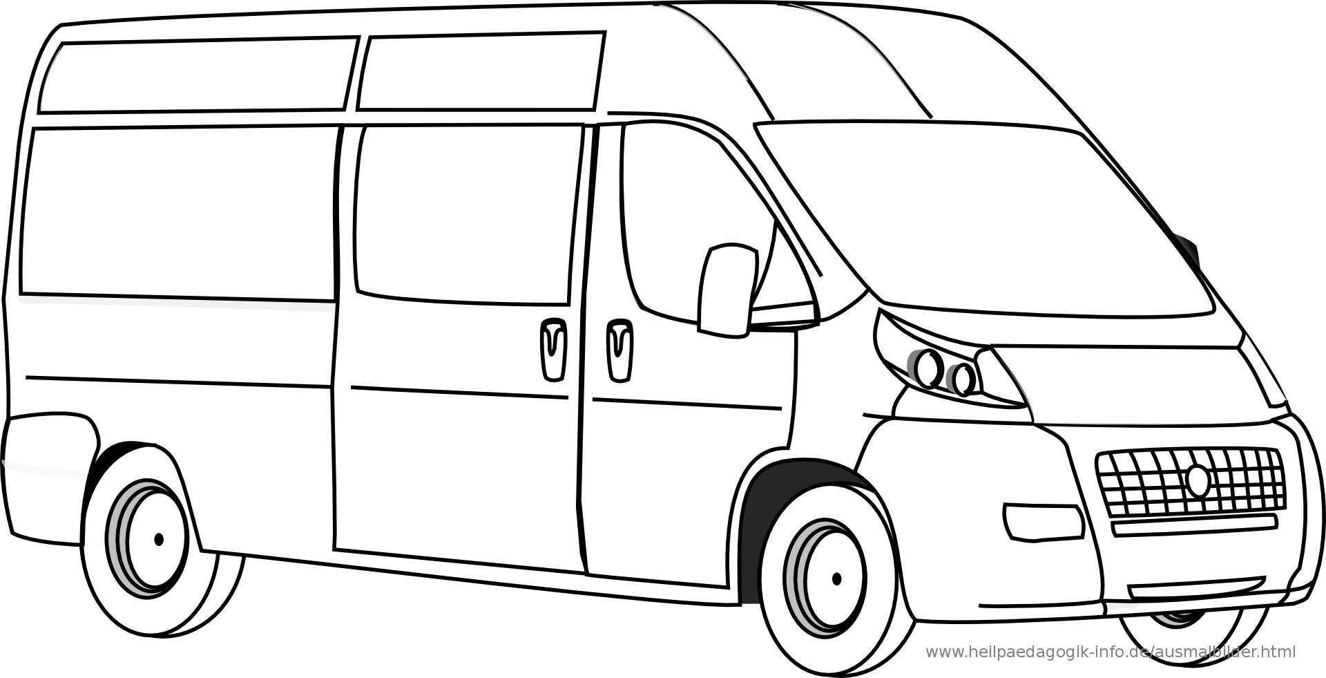 Ausmalbilder Autos Transporter | ausmalbilder | Pinterest