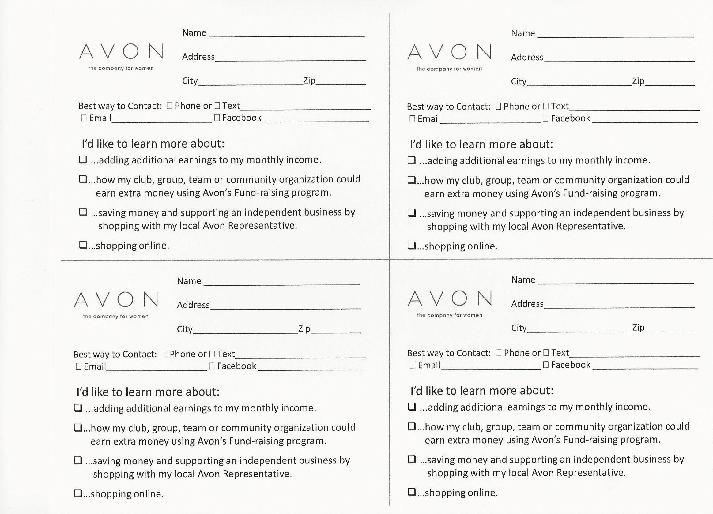 avon survey cards 2 328×1 679 pixels