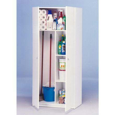 Organizar escobas organizar armario multiusos muebles for Armario plastico exterior carrefour