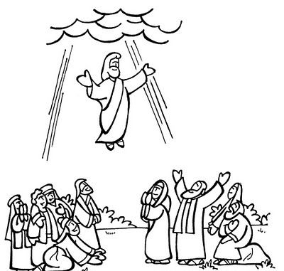 Jesus Ascension Coloring Pages Free Printable Jesus Coloring Pages