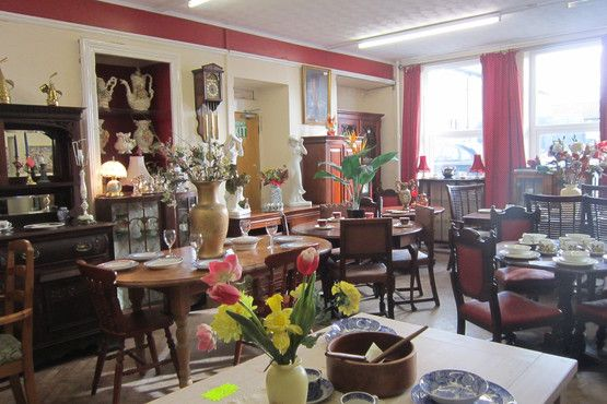 Domestic sales & Miss Molly's tea room. Dolcoath, Camborne, Cornwall
