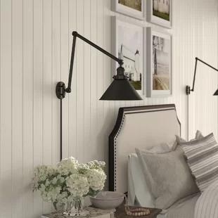 Swing Arm Wall Lamps You Ll Love In 2020 Wayfair Ca In 2020 Plug In Wall Sconce Swing Arm Lamp Swing Arm Wall Lamps