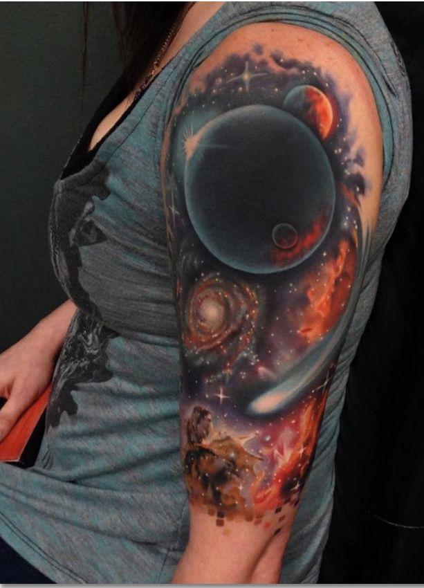 Galaxy half sleeve tattoo