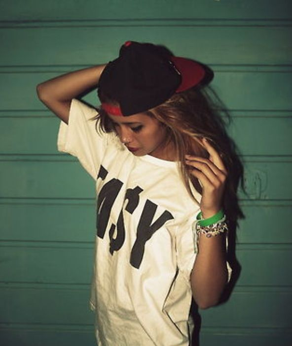 Snapbacks and oversized t-shirts | Hats | Pinterest | Swag ...