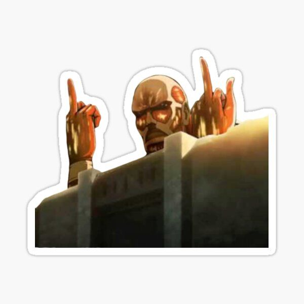 Colossal Titan Attack on Titans (SnK) Funny Design Sticker