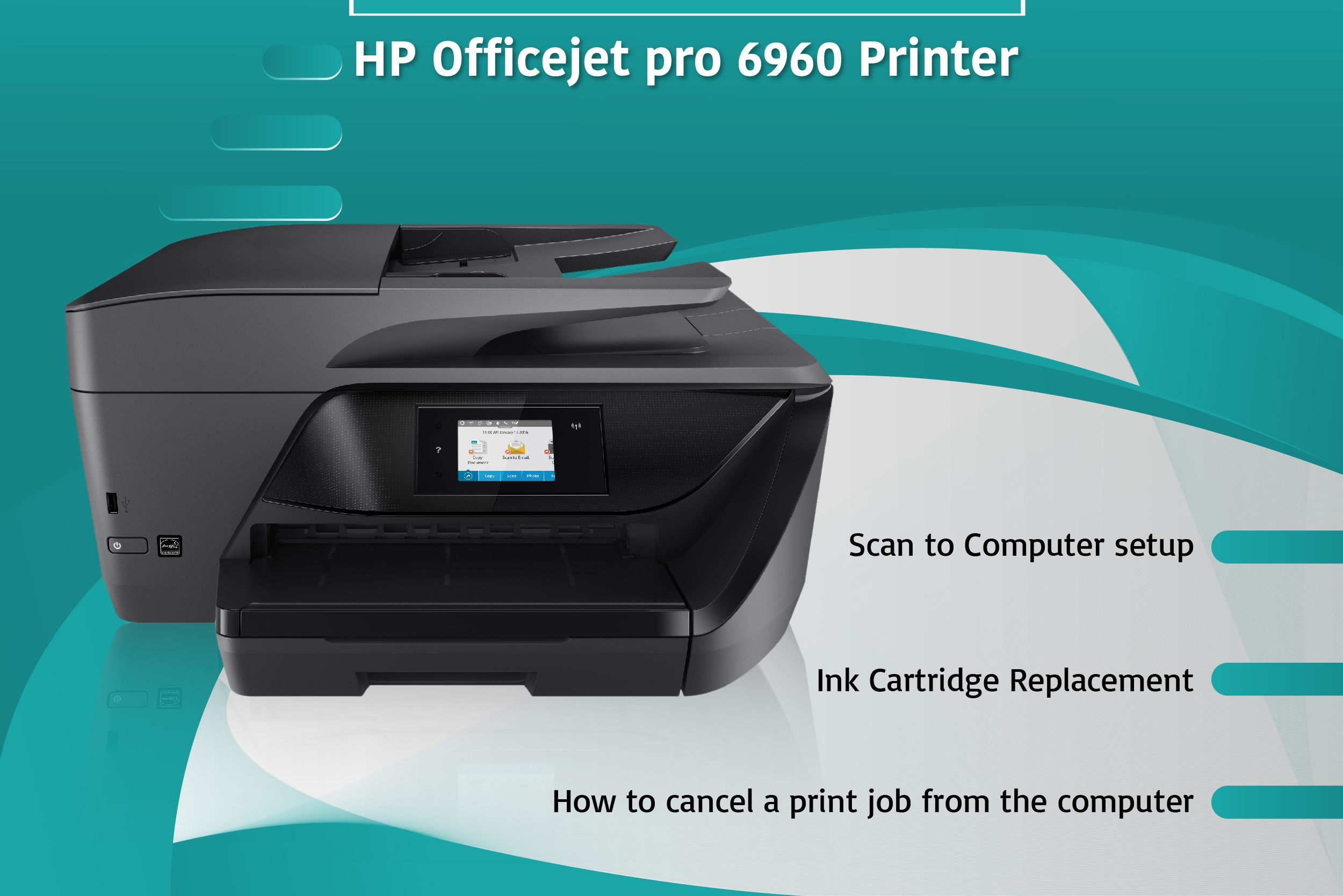 123 Hp Com Ojpro6960 Hp Officejet Pro Hp Officejet Printer