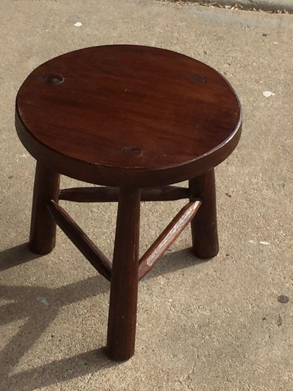 DAVID SMITH U0026 Co. Milking Stool ( Handcrafted Furniture / Old World Java