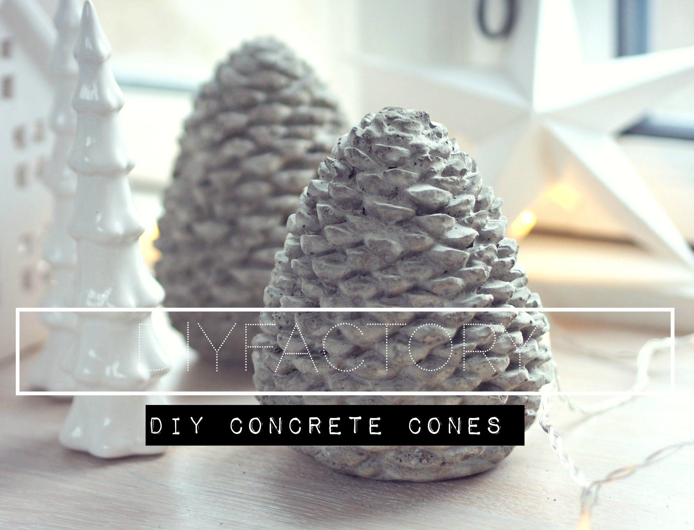 make diy concrete cones from mold. Black Bedroom Furniture Sets. Home Design Ideas