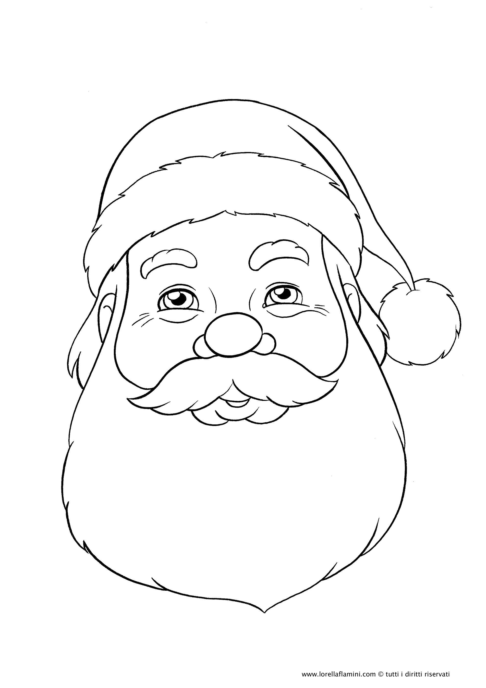 Babbo Natale Amazing Cards Print Out Drawing Pic Books Cutout