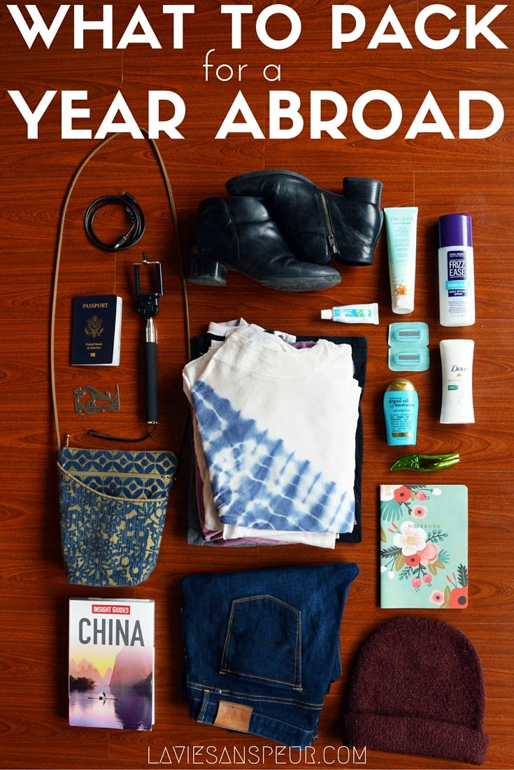 Tipshow Fashion to pack for study abroad