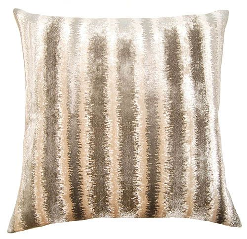 Decorative Pillow with Luxurious Velvet in Neutral Tones.  Plump down/feather insert.  Free shipping.