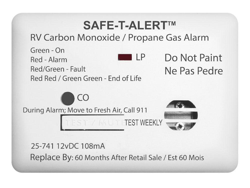 Safe T Alert 25 741 Wt Mini Dual Carbon Monoxide And Propane Gas Alarm White Propane Carbon Monoxide Gas