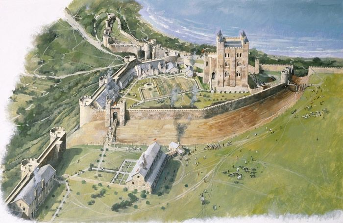 10bf38c89b Scarborough Castle Reconstruction England 1350 AD