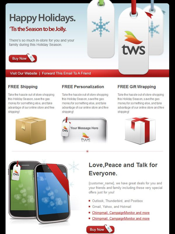 Holiday Html Email Template  Emails    Newsletter