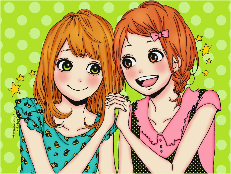 Naho y Shimana by akumaLoveSongs.deviantart.com on @deviantART