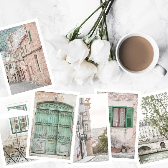 small art prints // paris // prague // lisbon // mint prints // 4x6 ...