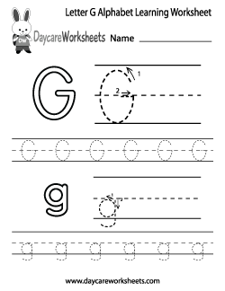 preschool letter g alphabet learning worksheet preschool alphabet worksheets alphabet. Black Bedroom Furniture Sets. Home Design Ideas
