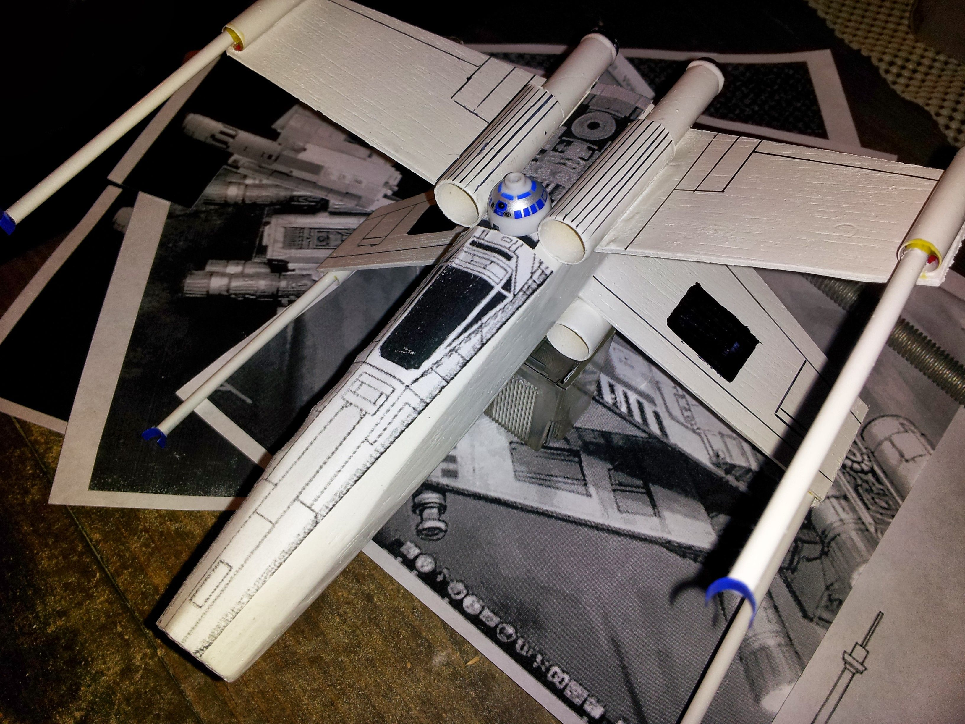 space derby rocket design star wars X-wing fighter for Cub ...