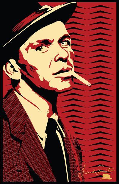 Decor; Frank Sinatra Print Art Print; $15   Siluetas, Arte ...