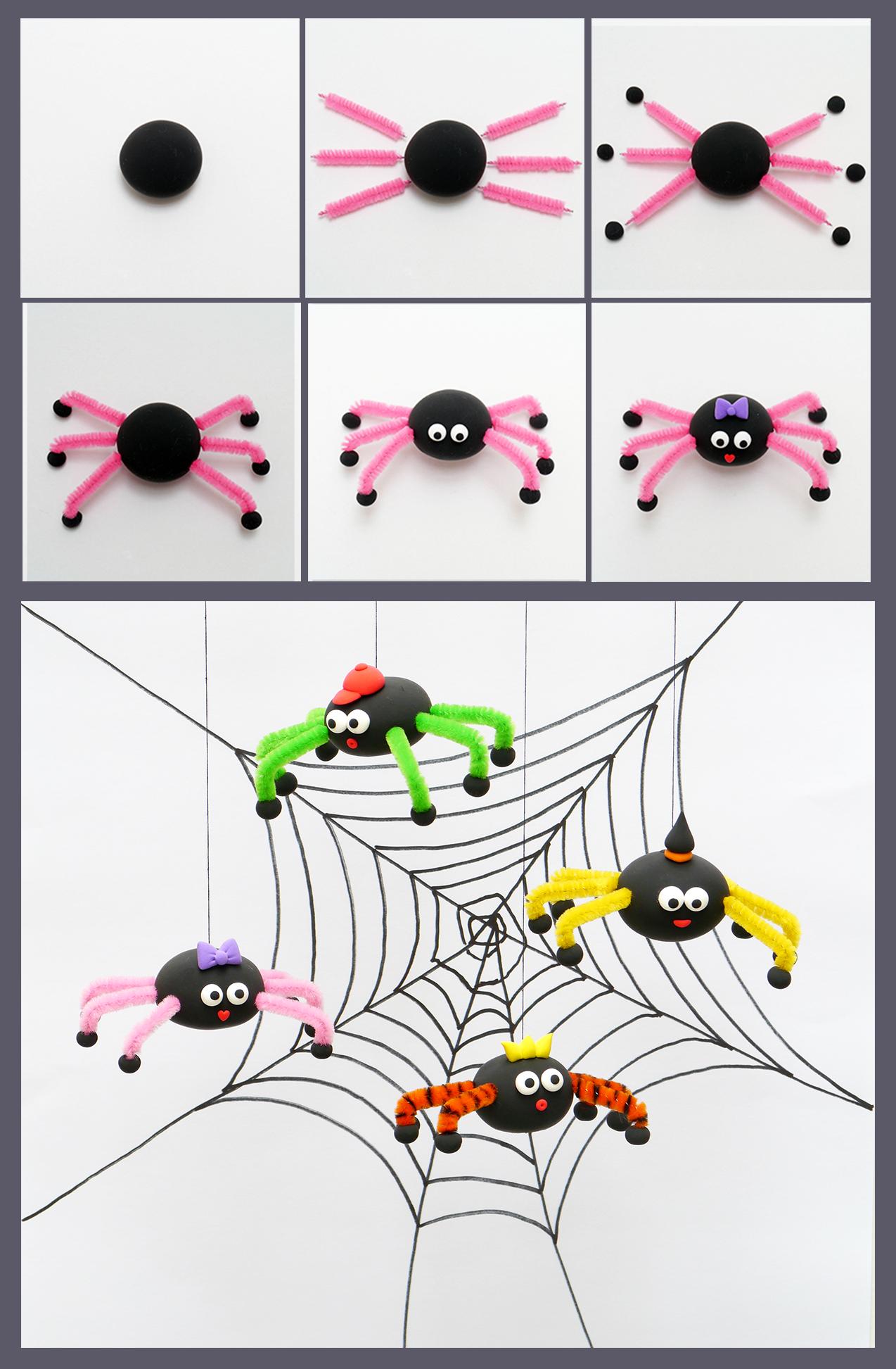 pour halloween on fait des araign es en patarev. Black Bedroom Furniture Sets. Home Design Ideas