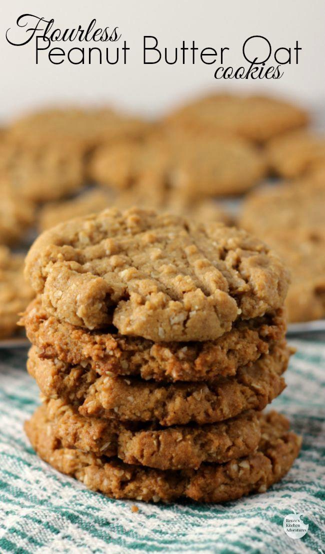 Flourless Peanut Butter Oat Cookies Vegan Peanut Butter Cookies Oat Cookie Recipe Oat Cookies